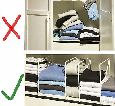 Regal-Trenner Schrankteiler Organisations-Set Kleiderschrank  Regalteiler - Regal Teiler Set