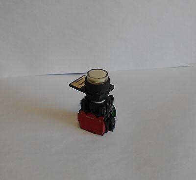 Allen Bradley Illum. White Push Button, 800E-X01/800E-X10, Used, Warranty
