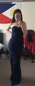 Navy blue strapless ball gown Bedford Bayswater Area Preview