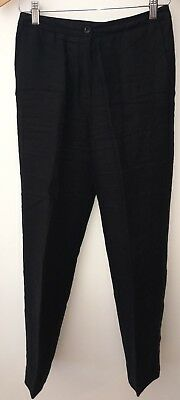 Ladies Black Smart Trousers Size 8 Laura Ashley<NH8466