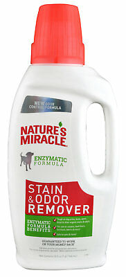 Nature's Miracle 32 oz Dog Cat Urine Feces Carpet Furniture Stain & Odor Remover