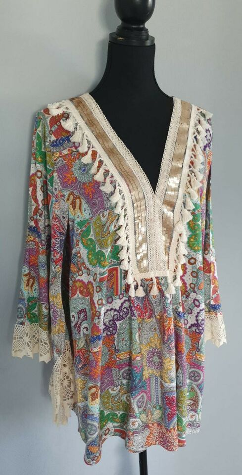Made in Italy Tunika Kleid Gr. M/L Hippie Ibiza Style in ...