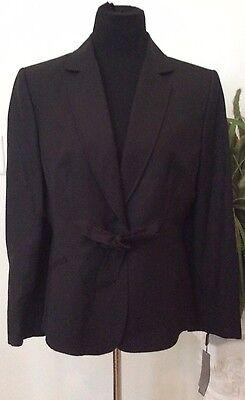 NWT Tahari Women's Linen Blend Multi-Occassion Black Blazer Suit Sz 12P Ret.$280