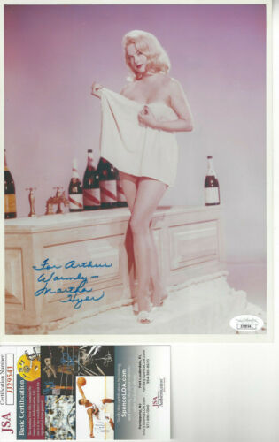 Beauitful Martha Hyer  autographed 8x10 color  photo JSA Certified For Arthur