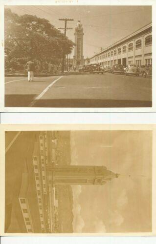 1930s Aloha Tower, Honolulu Hawaii Two 5x7 Photos sepia tone