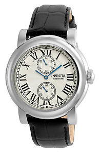 Invicta 22255 Men's Round Silver Tone Analog 12 & 24 Hr Numeral Roman Watch