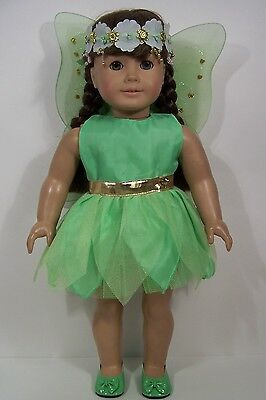 GREEN Tinkerbell Fairy Halloween Costume For 18