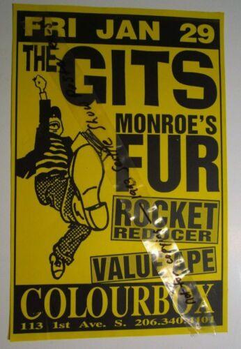 The Gits Original 90s Concert Show Poster Monroe