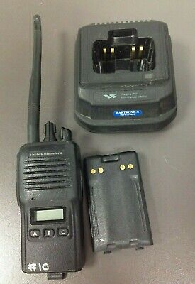 Vertex Standard Vx-180v Vhf Handheld Used Battery With Charger Cd-16 No Ac