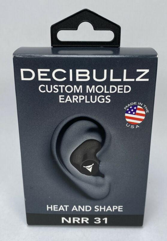 Decibullz - Custom Molded Earplugs, 31dB Highest NRR, Hearing Protection Black