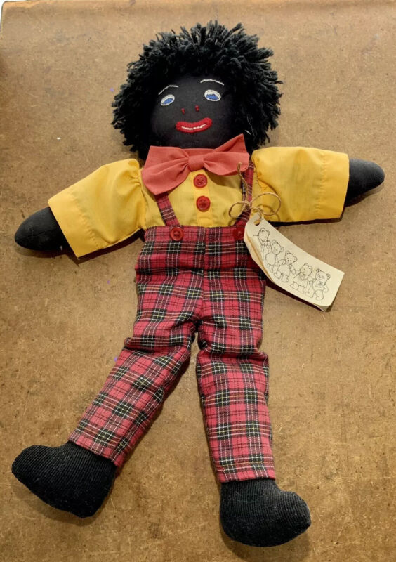 "Aboriginal Australian Cloth Doll w. Tag  ""Best Friends"" made in AUSTRALIA"