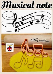 2pcs Plastic Music Note Biscuit Cookie Cutter Fondant Cake Decorating Mold
