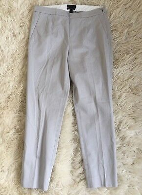 JCrew $90 Martie pants in bistretch cotton 6 Cloud Grey b8521 Suiting Work New
