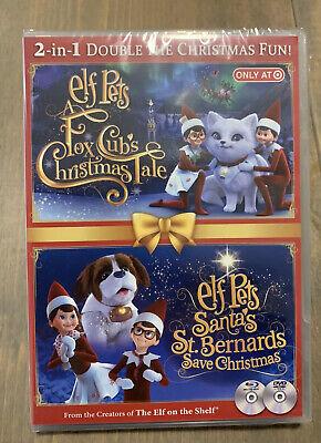 NEW Elf Pet's 2-1 DVD Christmas Movie Fox Cub's Tales & Santa's Save Christmas