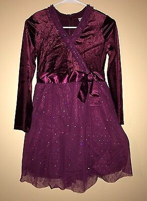 American Girl Sparkly Plum Dress For Child Girls 12 Holiday Special Occasion - Plum Dresses For Girls