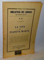 U.forti La Vita Sul Pianeta Marte 1928 -  - ebay.it