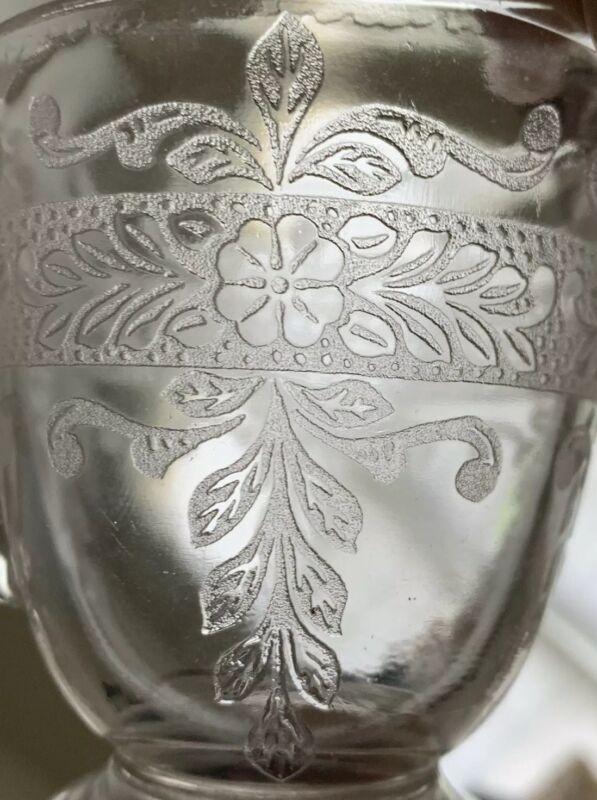 1930 - 1933 MACBETH EVANS S PATTERN STIPPLED ROSE DEPRESSION GLASS CREAMER, MINT