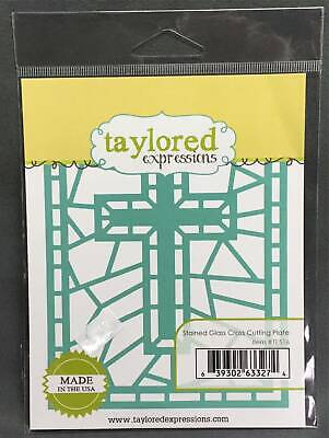 Stained Glass Cross Craft (Cross Metal Die Cut Stencil Stained Glass Window Taylored Expression Craft)