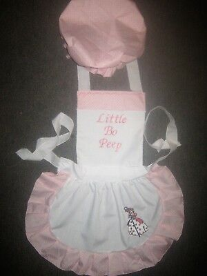 Little Bo Peep Costume For Girls (GIRLS LITTLE BO PEEP COSTUME APRON & MOP TOP HAT M2O Most colors please)