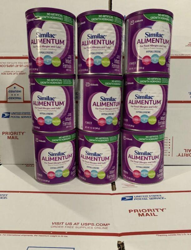 9 Cans Similac Alimentum Hypoallergenic Infant Formula Powder 12.1oz Ex 04/2022