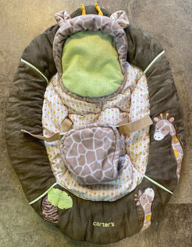 Carter's Infant/Baby Bouncer Seat Cover-Replacement Cover-Giraffe-Very Nice!
