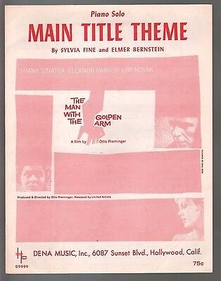 Man With The Golden Arm 1956 Frank Sinatra Piano Solo Sheet Music