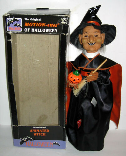 1995 TELCO Witch Motionettes Halloween Decoration Figure