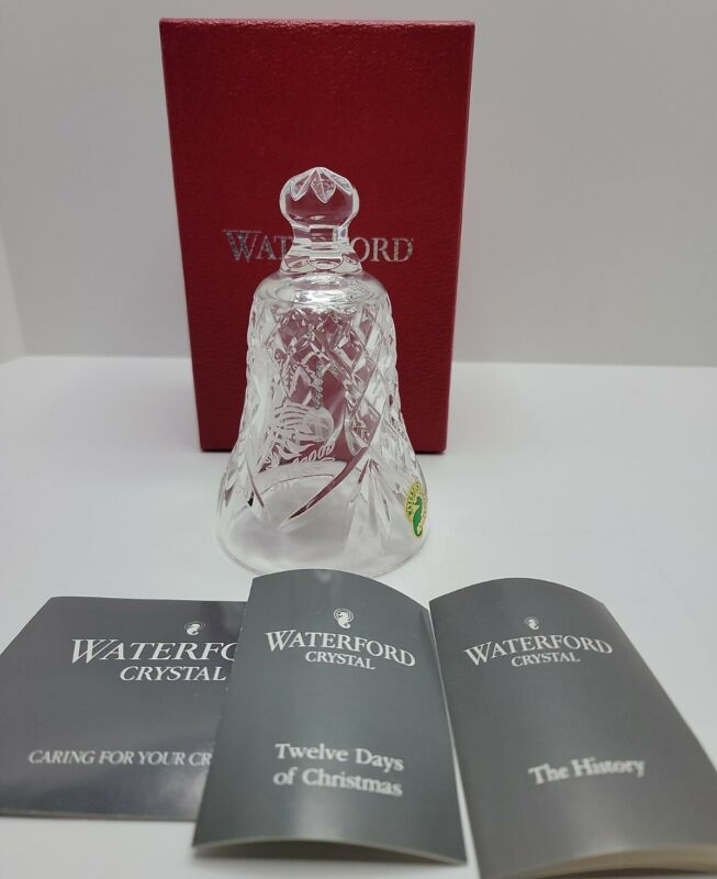 """Waterford Crystal Christmas Bell """"Seven Swans A Swimming"""" Year 1990."""