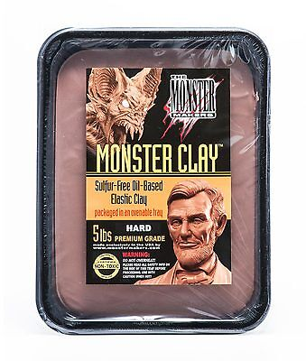 Monster Clay Premium Grade Modeling Clay - Hard - (5lb Tub)