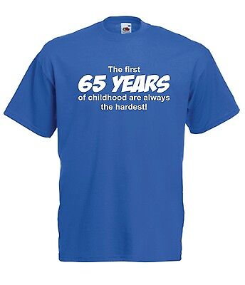 65th BIRTHDAY funny party present gift ideas fashion top tee mens womens T SHIRT (65th Birthday Ideas)