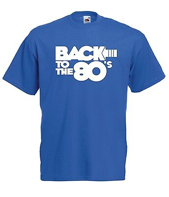 BACK TO THE 80s music fancy dress party birthday gift ideas boys girls T SHIRT