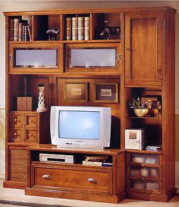 Libreria soggiorno soggiorno salotto in noce porta tv ebay - Libreria salotto e soggiorno ...