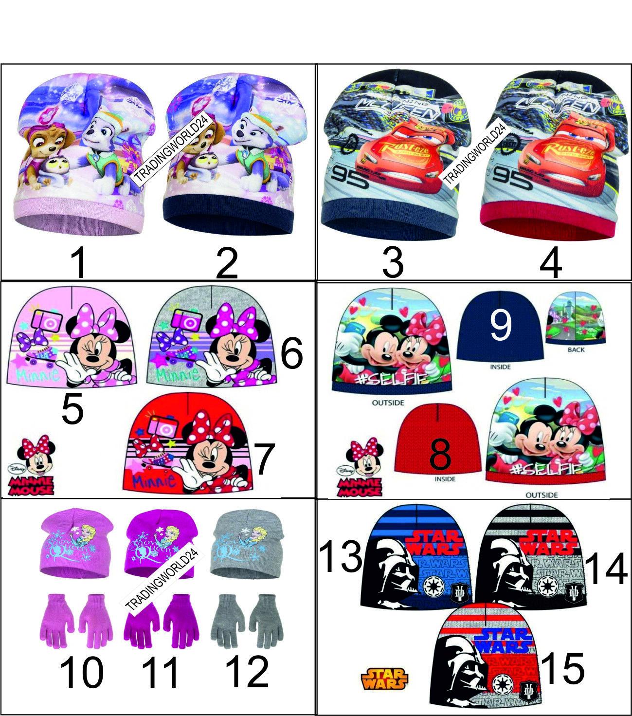 ◄ Mütze Kappe Schal  Disney Kinder Minnie Micky Paw Patrol Cars Eiskönigin ►