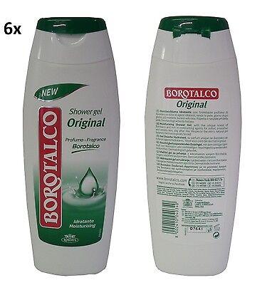 6x BOROTALCO Idratante Bagno di Talco Schaumbad foam bath Badeschaum 500ml