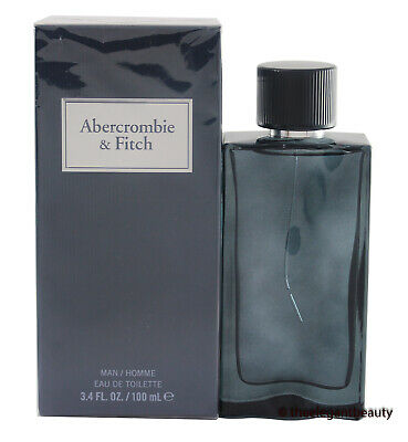 First Instinct Blue By Abercrombie & Fitch 3.4oz/100ml Edt Spray Men New In Box