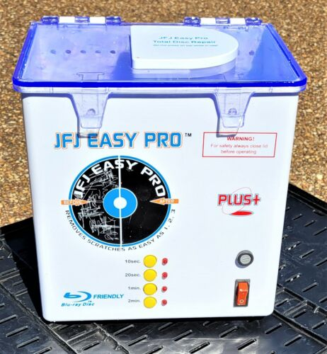 JFJ Easy Pro Plus Working CD/DVD Repair Machine only 6months old-Includes 2 pads