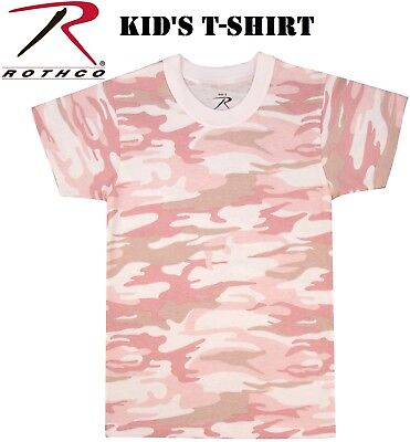 Baby Pink Camouflage T-shirt - Army Kid's Baby Pink Camouflage Short Sleeve Military T-Shirt 6397 Rothco