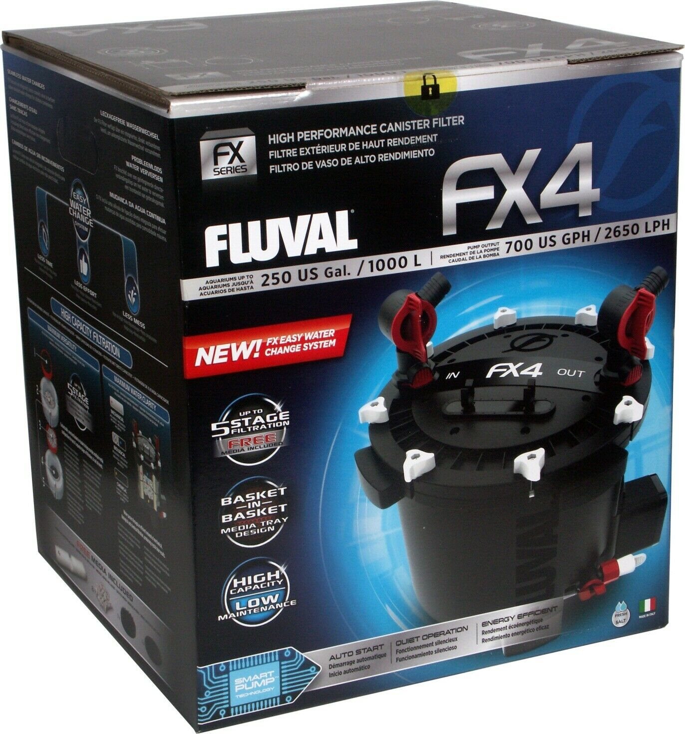 Fluval FX4 Canister Filter Includes ALL Media Complete Packa