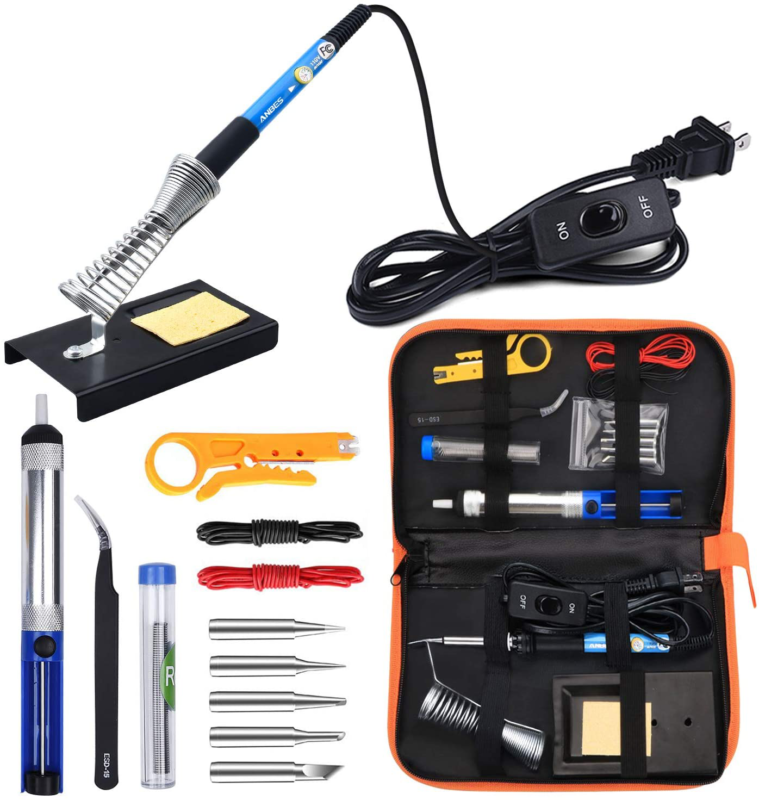 Anbes Soldering Iron Kit Electronics, 60W Adjustable Tempera