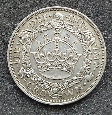 1928 George V Silver Wreath Crown -UNC