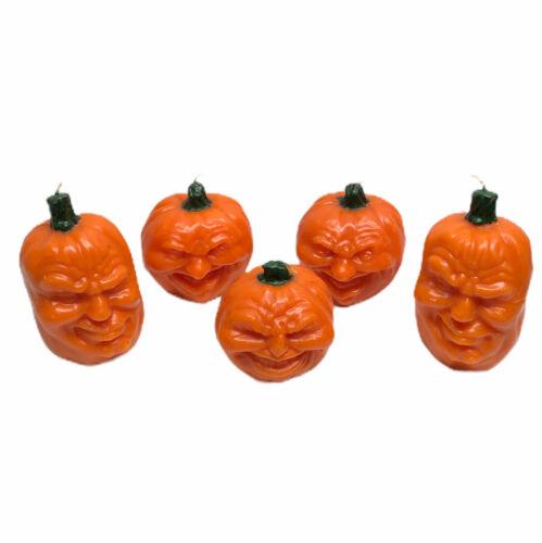 Set of 5 Vintage Candles Todd Masters Oh Lantern Pumpkin Jack O Lantern Wax RARE