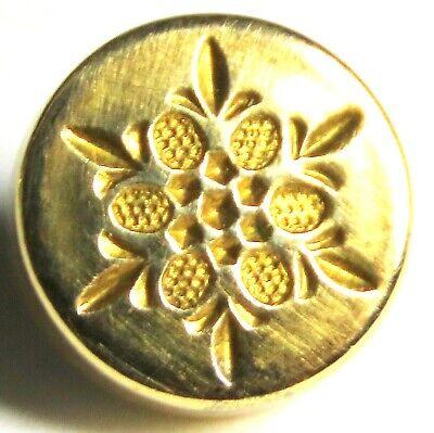 Marvelous Antique Gilt Brass Button ~ Golden Age Gilt Brass ~ Robinsons Extra Back Mark Button ~ Beautiful!