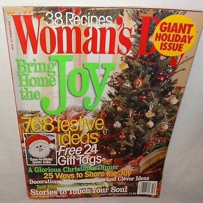 Womans Day Magazine December 2000 Christmas Joy Home Festive Ideas Dinner ()