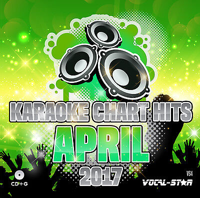 VOCAL-STAR KARAOKE CDG DISC - APRIL 2017 CHART HITS VS4- 18 CD+G SONGS