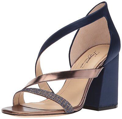 Imagine Vince Camuto Women's Abi Satin/Leather Dress Pumps Inkwell/Bronze Vince Satin Pumps