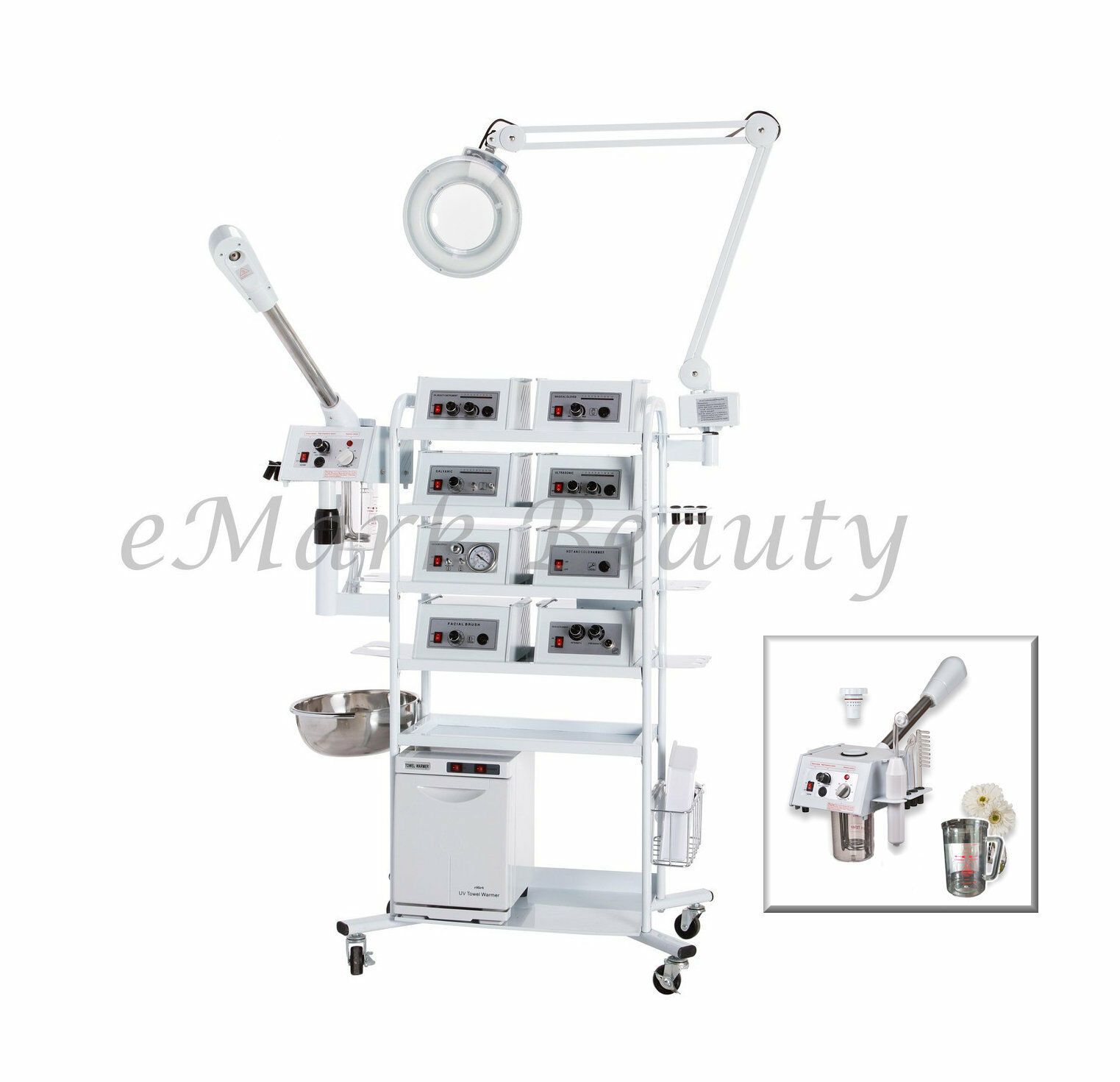 eMark Beauty 18 in 1 T4DW Multifunction Facial Machine Ozone
