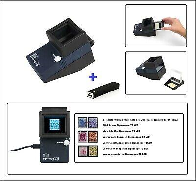 SAFE 9893 Set Signoscope T3 Wasserzeichenprüfer Wasserzeichenfinder + Powerbank