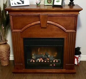 Indoor electric fireplace with 1500W heater