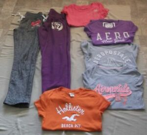 Ladies Ardene Pants, Aeropostale, Hollister Shirts Size Small