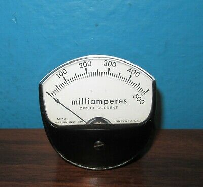 Marion Instruments Mm2 Panel Meter 0-500ma 0-500 Dc Milliamperes 2.75 X 2.75